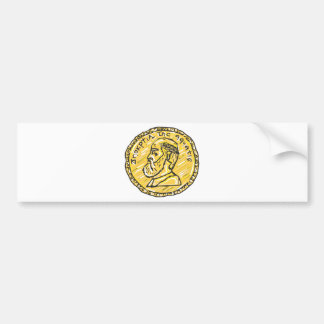 Anchient Coin Sketch Bumper Sticker