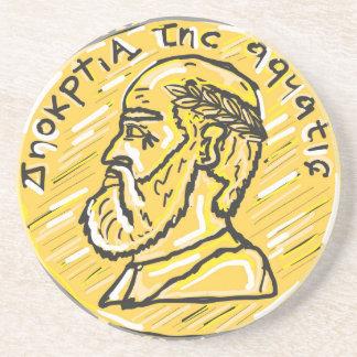 Anchient Coin Sketch Coaster