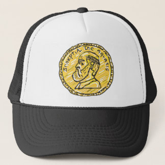 Anchient Coin Sketch Trucker Hat