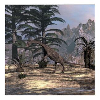 Anchisaurus dinosaur - 3D render Acrylic Wall Art