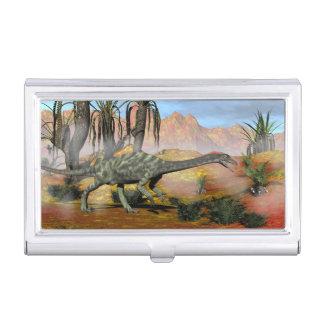 Anchisaurus dinosaur - 3D render Business Card Holder