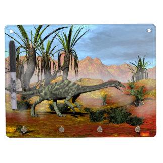 Anchisaurus dinosaur - 3D render Dry Erase Board With Keychain Holder