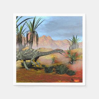 Anchisaurus dinosaur - 3D render Paper Napkin