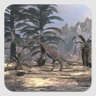 Anchisaurus dinosaur - 3D render Square Sticker