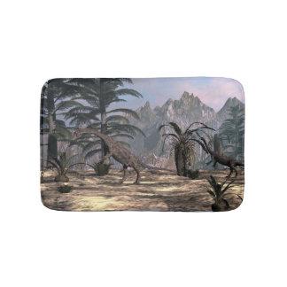 Anchisaurus dinosaurs - 3D render Bath Mat
