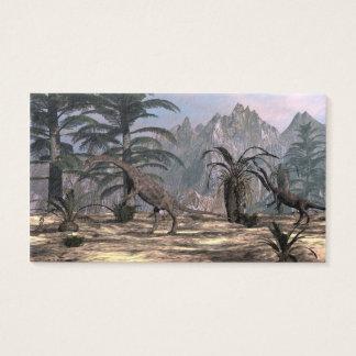 Anchisaurus dinosaurs - 3D render Business Card