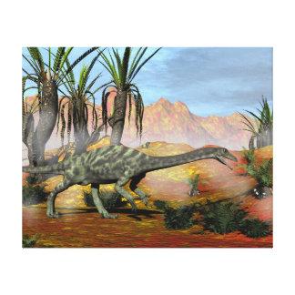 Anchisaurus dinosaurs - 3D render Canvas Print