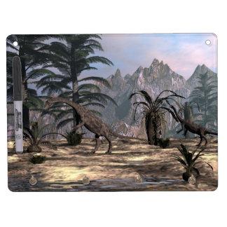 Anchisaurus dinosaurs - 3D render Dry Erase Board With Keychain Holder