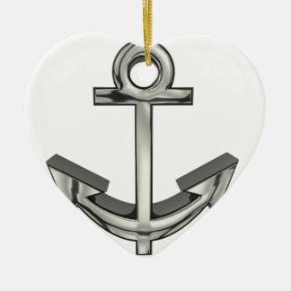 anchor #2 ceramic ornament