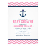 Anchor and Chevrons Nautical Baby Shower {pink} Invites