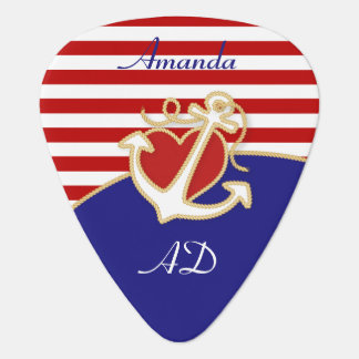 Anchor and Heart Guitar Pick