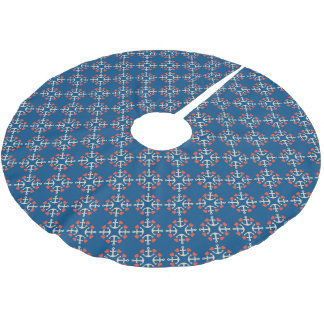 Anchor And Heart Pattern Brushed Polyester Tree Skirt