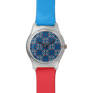 Anchor And Heart Pattern Wrist Watch
