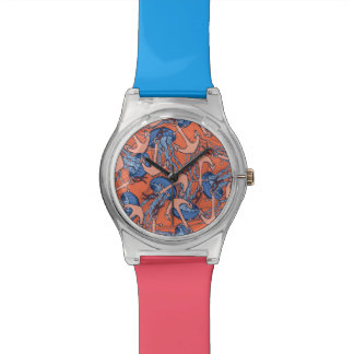 Anchor And Jellyfish Pattern Watch