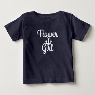 Anchor and Nautical Wedding Flower Girl Baby T-Shirt