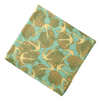 Anchor And Shells In Vintage Style Pattern Do-rags