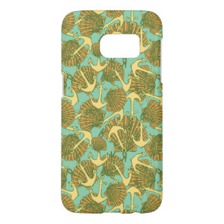 Anchor And Shells In Vintage Style Pattern Samsung Galaxy S7 Case