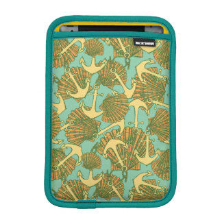 Anchor And Shells In Vintage Style Pattern Sleeve For iPad Mini