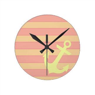 Anchor and Stripes Wall Clocks