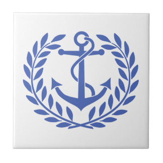 Anchor and Wreath Ceramic Tiles