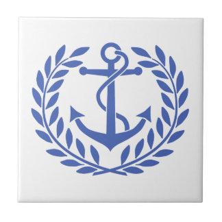 Anchor and Wreath Tile