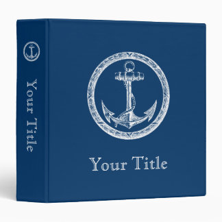 Anchor and Wreath Vinyl Binder