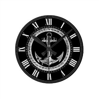 Anchor and Wreath Wall Clocks