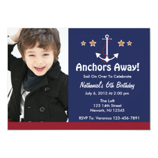 Anchor Away Birthday Invitation