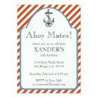 Anchor Birthday Party Invitations Nautical Theme