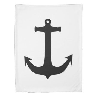Anchor black + your background & ideas duvet cover
