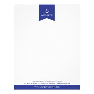 Anchor blue ribbon sailing business letterhead