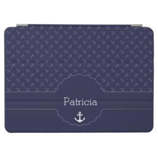 anchor captain sailor nautical pattern and names iPad air cover