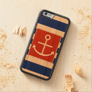 Anchor Carved Cherry iPhone 6 Bumper Case