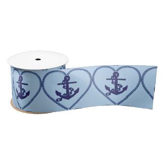 anchor chain hart ribbon satin ribbon