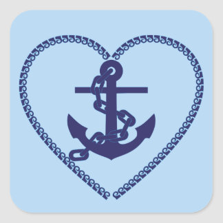 anchor chain hart stickers