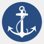 Anchor Classic Round Sticker