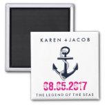 Anchor Cruise Ship Wedding Favour Magnets