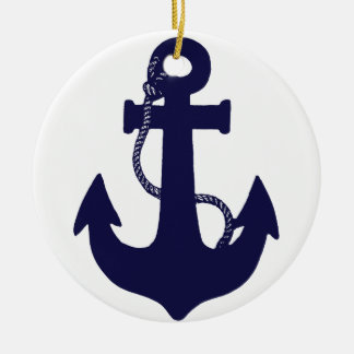 Anchor design ceramic ornament