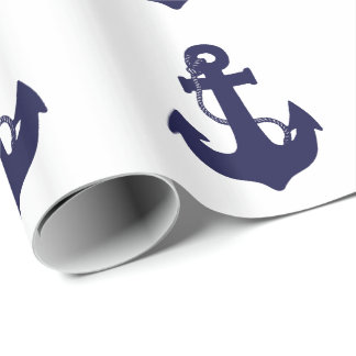 Anchor design wrapping paper