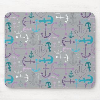 Anchor Doodles Mouse Pad