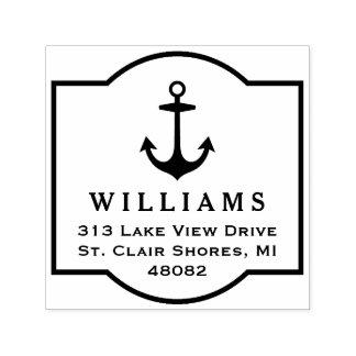 Anchor Frame | Return Address Self-inking Stamp