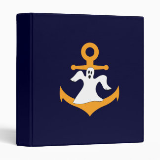 Anchor ghost Halloween 3 Ring Binder