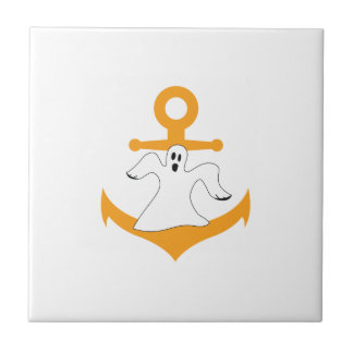 Anchor ghost Halloween Ceramic Tiles
