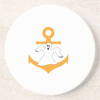 Anchor ghost Halloween Coaster