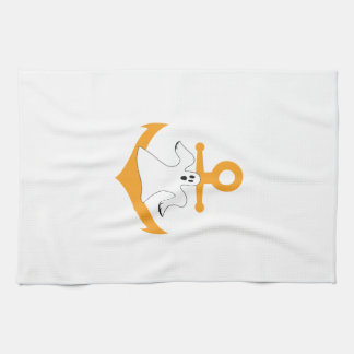 Anchor ghost Halloween Kitchen Towel