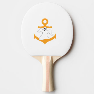 Anchor ghost Halloween Ping Pong Paddle