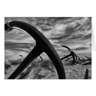 Anchor graveyard blank greetings card