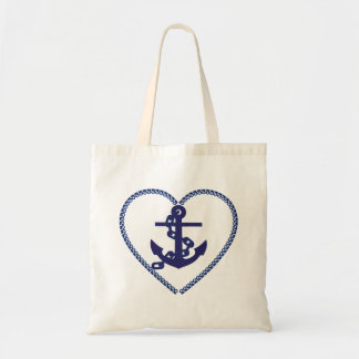 Anchor heart versatile tote bag