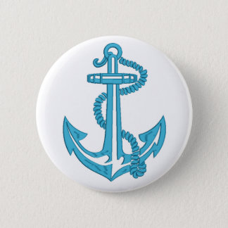 anchor - imitation of embroidery 2 inch round button