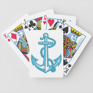 anchor - imitation of embroidery bicycle playing cards